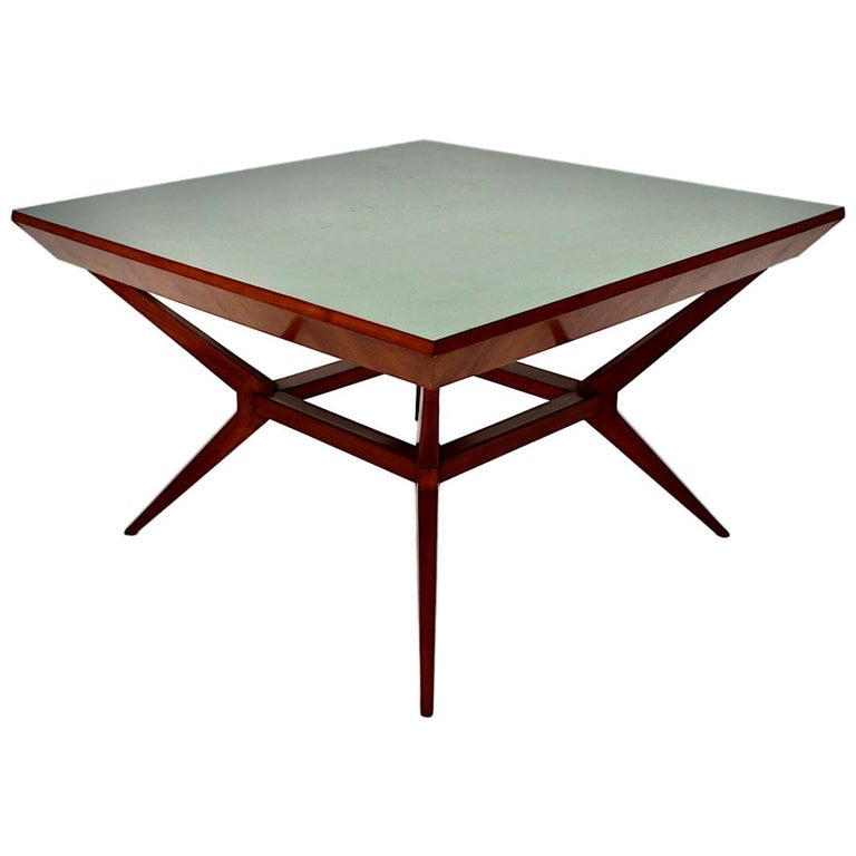 Mid-Century Modern Vintage Cherry Dining Table Franz Schuster Attributed, Vienna For Sale