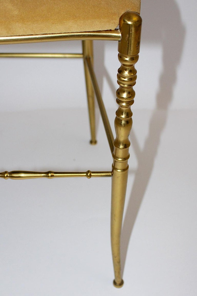 Mid-Century Modern Vintage Chiavari Brass Side Chair or Chair, 1950s, Italy In Good Condition For Sale In Vienna, AT