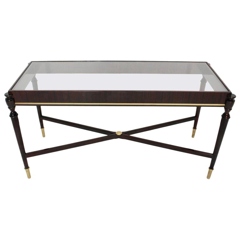 Mid-Century Modern Vintage Coffee Table Attributed to Paolo Buffa, Italy 1940s For Sale