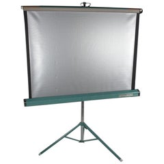 Mid-Century Modern Vintage Collapsable Projector Screen