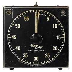 Mid-Century Modern Vintage Darkroom Photography Timer with Outlet