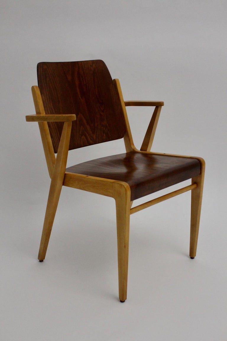 Mid-Century Modern Vintage Dining Room Chairs by Franz Schuster 1959 Set of Six For Sale 7