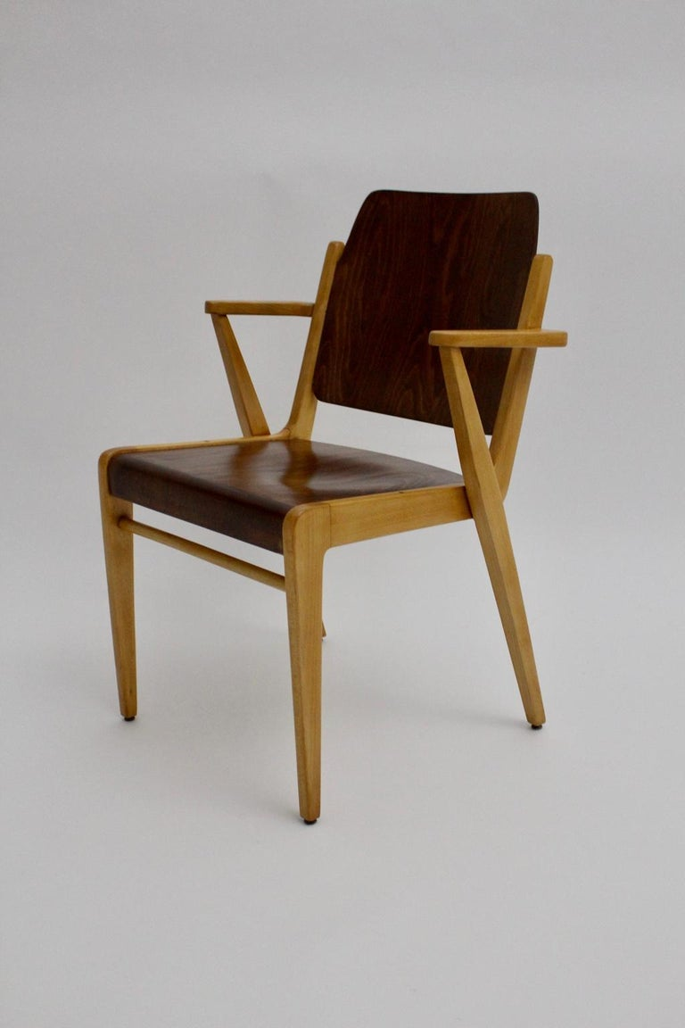 Mid-Century Modern Vintage Dining Room Chairs by Franz Schuster 1959 Set of Six For Sale 8