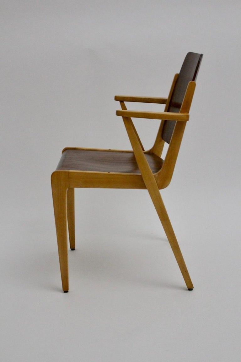 Mid-Century Modern Vintage Dining Room Chairs by Franz Schuster 1959 Set of Six For Sale 9