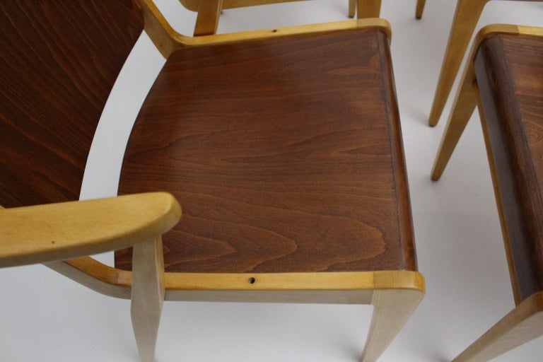 Mid-Century Modern Vintage Dining Room Chairs by Franz Schuster 1959 Set of Six For Sale 11