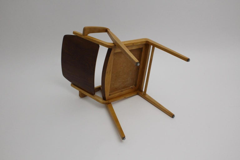 Mid-Century Modern Vintage Dining Room Chairs by Franz Schuster 1959 Set of Six For Sale 13