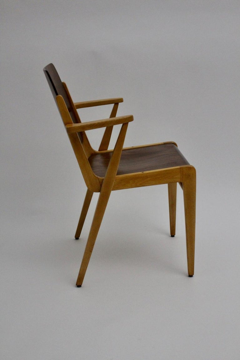 Mid-Century Modern Vintage Dining Room Chairs by Franz Schuster 1959 Set of Six For Sale 14