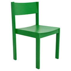Mid Century Modern Vintage Eight Green Beech Stackable Dining Chairs 1950 Vienna