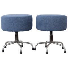Mid-Century Modern Vintage French Stools, a Pair