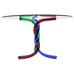 Mid-Century Modern Vintage Glass Dining Table Center Table Murano, Italy, 1970