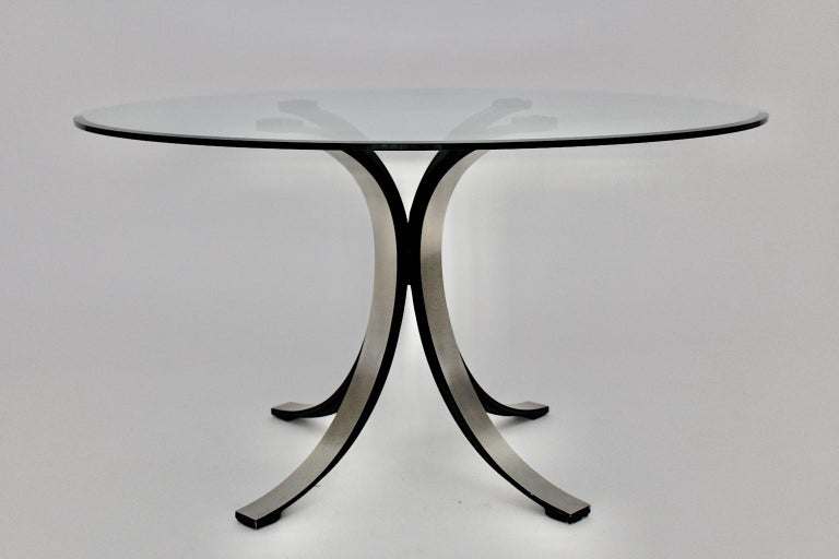 A Mid-Century Modern vintage dining table, which was designed by Osvaldo Borsani for Tecno, Italy, 1963.