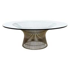 Mid-Century Modern Vintage Iconic Steel Coffee Table Warren Platner Knoll, 1960s