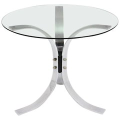 Mid-Century Modern Vintage Metal and Glass Coffee Table 1960s