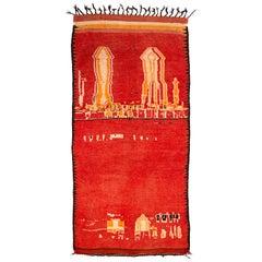 Mid-Century Modern Vintage Moroccan Rug