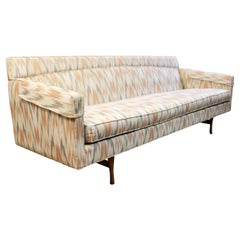 Mid-Century Modern Vintage Paul McCobb Flame Stitch Sofa Wood Base 1960s
