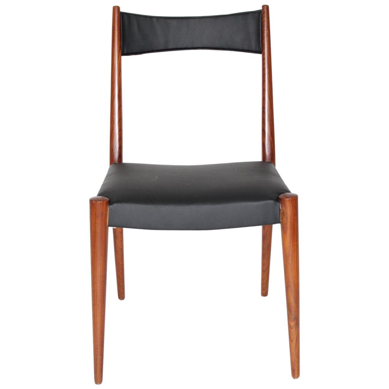 Mid-Century Modern Vintage Beech Chair by Anna-Lülja Praun 1953 Austria