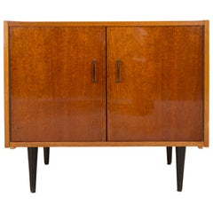 Mid-Century Modern Vintage TV Table or Sideboard, Wood, Poland, 1960