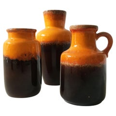 Mid-Century Modern Vintage Vase Collection 'Rothko' Set of Three, Germany 1970s