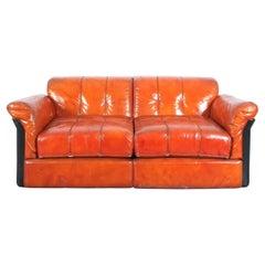 Mid-Century Modern Vittorio Introini Two-Seat Sofa for Saporiti, Italy, 1970