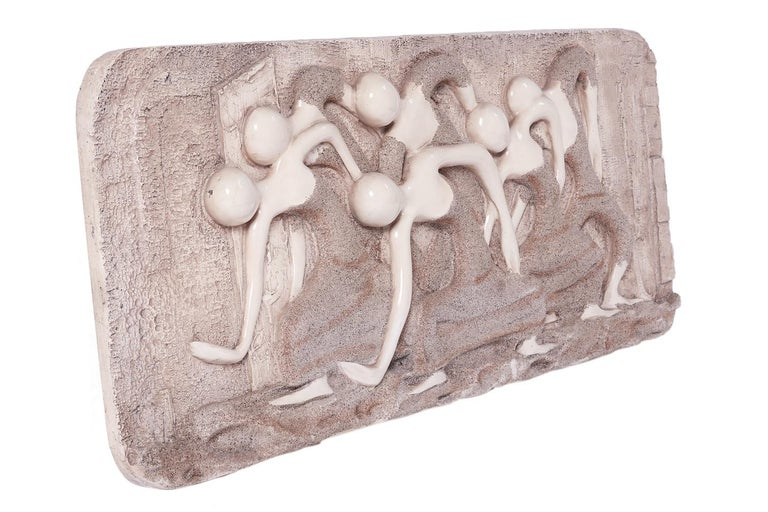 Mid-20th Century Mid-Century Modern Wall Finesse Relief Sculpture For Sale