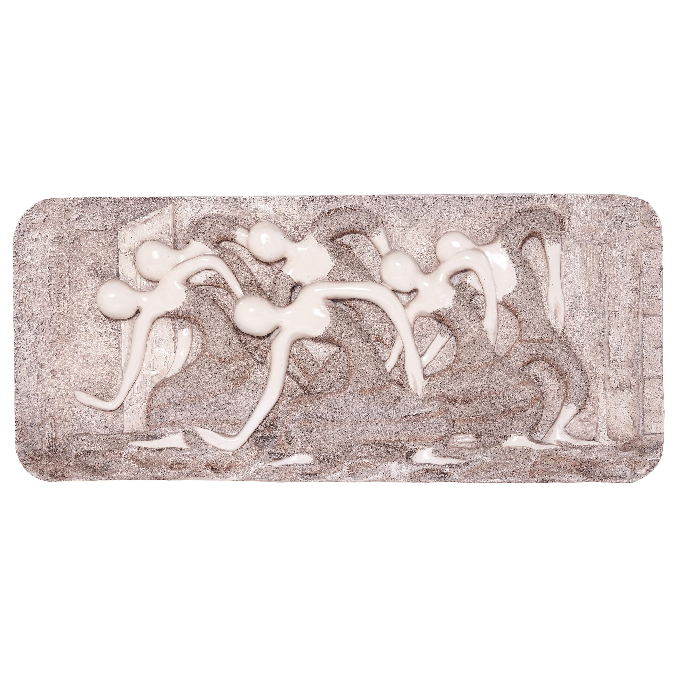 Mid-Century Modern Wall Finesse Relief Sculpture
