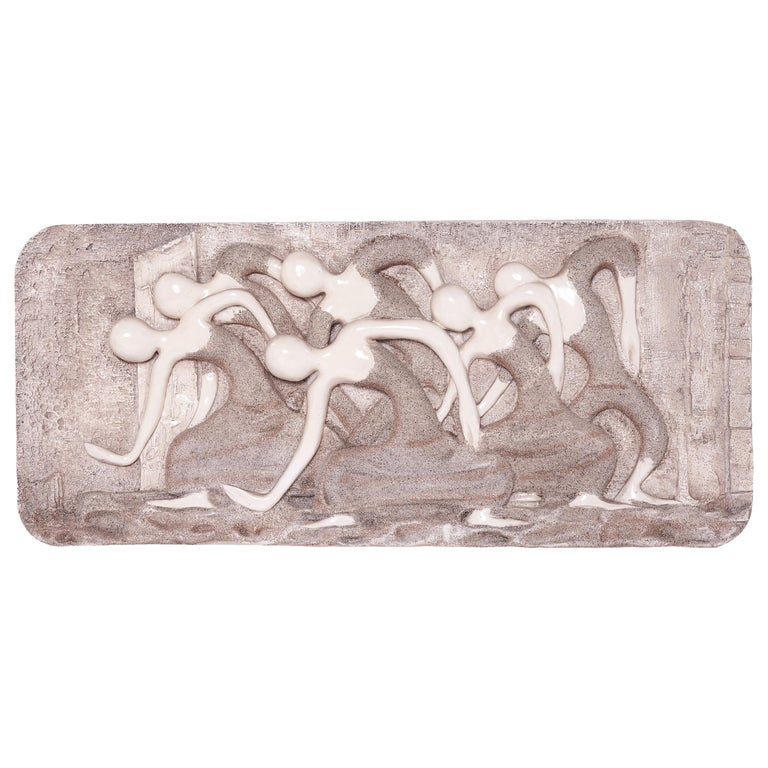 Mid-Century Modern Wall Finesse Relief Sculpture For Sale