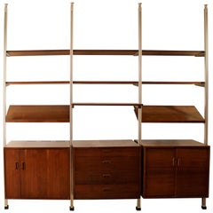 Mid-Century Modern Wall George Nelson Shelving Omni Wall Unit, 1960s