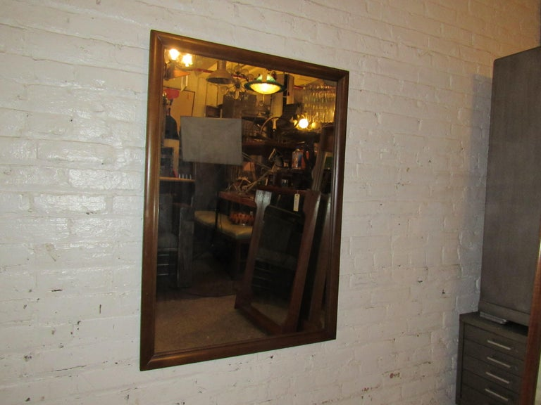 Mid-Century Modern Wall Mirror For Sale 8