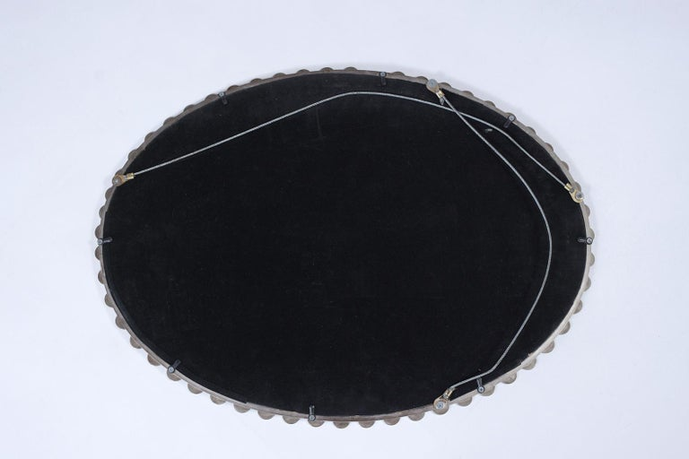 Mid-Century Modern Convex Wall Mirror For Sale 2