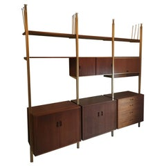 """Mid-Century Modern Wall Unit """"Omni"""" System by George Nelson"""