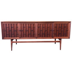 Mid-Century Modern Walnut and Rosewood Credenza by Thomasville