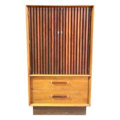 Mid-Century Modern Walnut and Rosewood Tall Dresser Chiffonier, circa 1960s