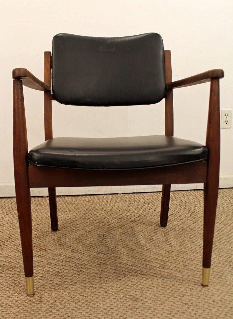 American Mid-Century Modern Walnut Armchair For Sale