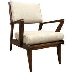 Mid-Century Modern Walnut Armchair Attrib Jens Risom