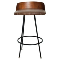 Mid-Century Modern Walnut Bar Stool by Chet Beardsley