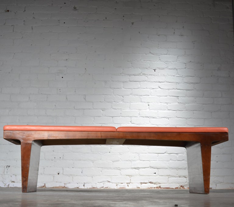Mid-Century Modern Walnut Bench 1