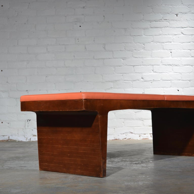 Mid-Century Modern Walnut Bench 2