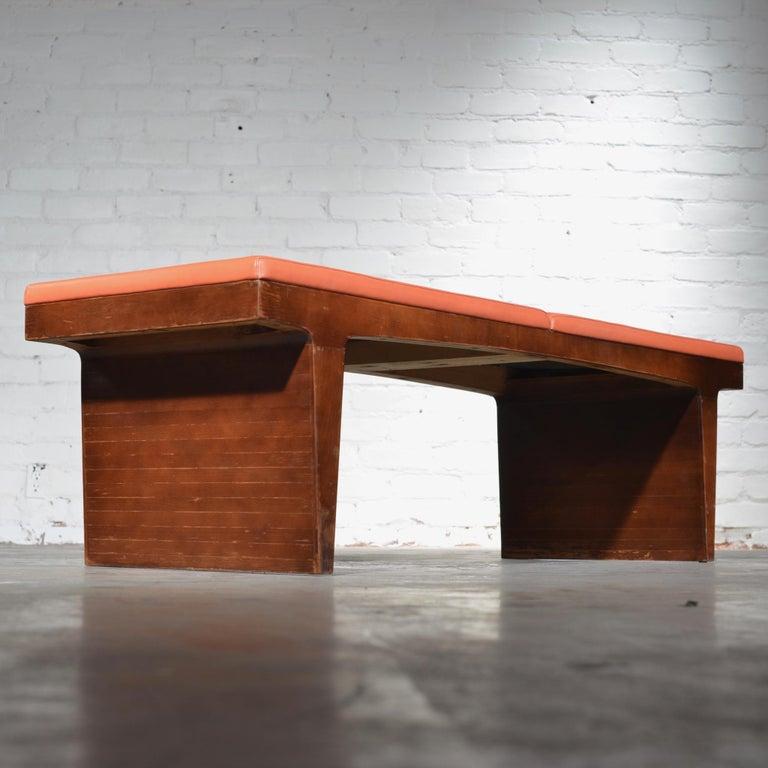Mid-Century Modern Walnut Bench 3