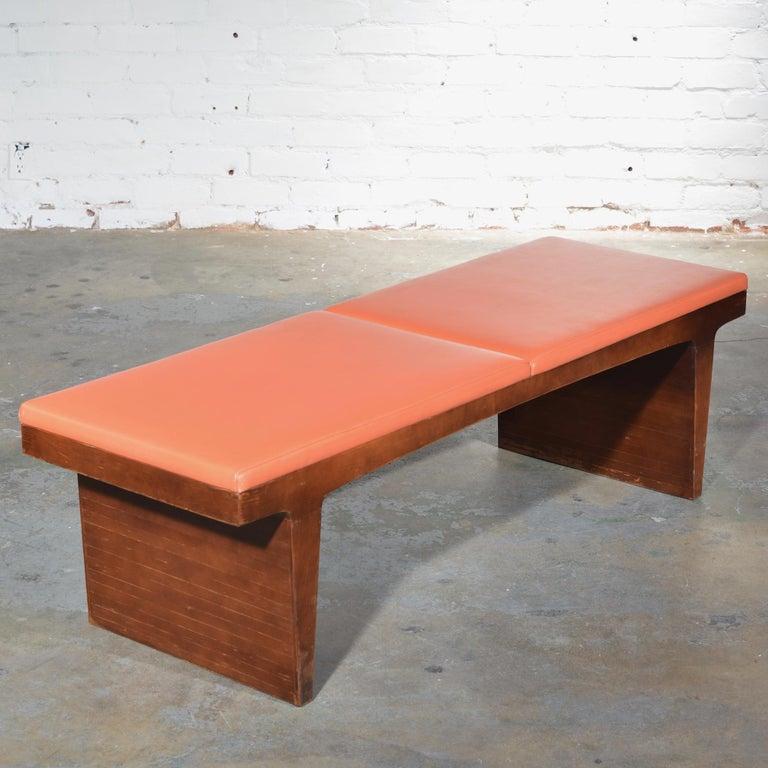 Mid-Century Modern Walnut Bench 4