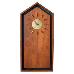 Mid-Century Modern Walnut Clock