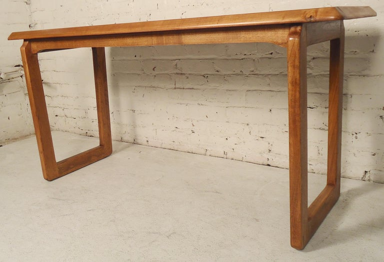Mid-Century Modern Walnut Console Table