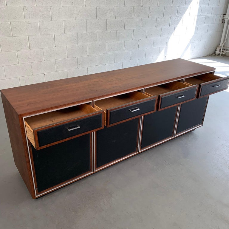 Mid-Century Modern Walnut Credenza by John Stuart In Good Condition For Sale In Brooklyn, NY