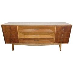 Mid-Century Modern Walnut Credenza by United Furniture Corporation