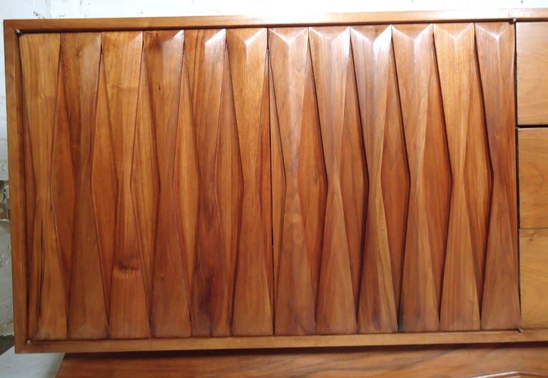 Mid-20th Century Mid-Century Modern Walnut Credenza For Sale