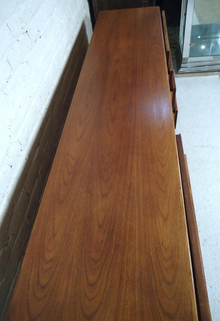 Wood Mid-Century Modern Walnut Credenza For Sale