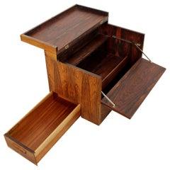 Mid-Century Modern Rosewood Cube Mini Bar Rolf Hesland Haug Snekkeri Norway, 60s