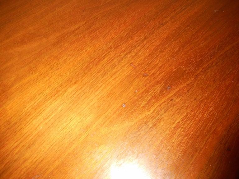 Mid-Century Modern Walnut Curved Front Highboy Dresser For Sale 8