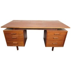 Mid-Century Modern Walnut Desk