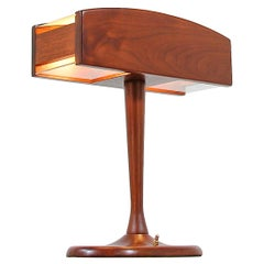 Mid-Century Modern Walnut Desk Lamp