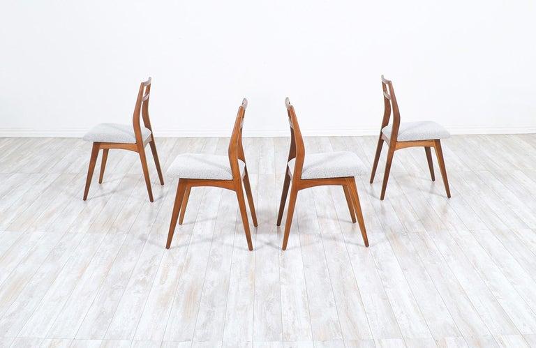 American Mid-Century Modern Walnut Dining Chairs